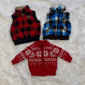 $6 Sale Carter's Boys Size 3M Vests and Sweater